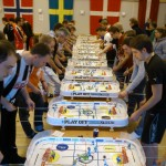 1 out of 4 rows of Table Hockey players during the Swedish Masters 2013